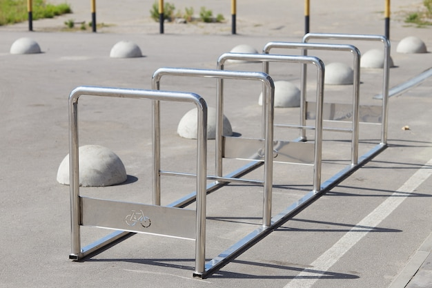 Empty place for a parking of bicycles