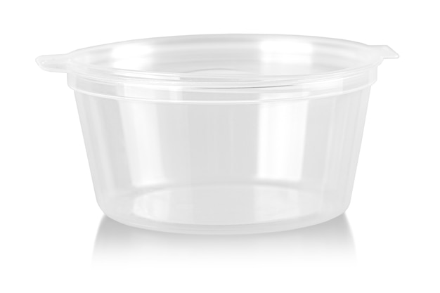 The empty plastic container isolated on white background