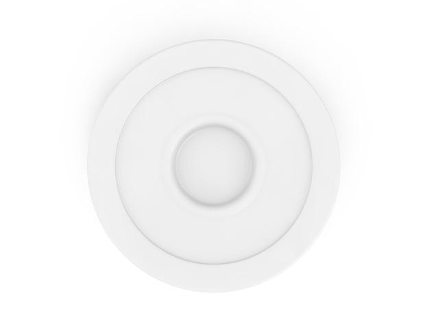 白い背景の3dレンダリングで分離された空のプレート