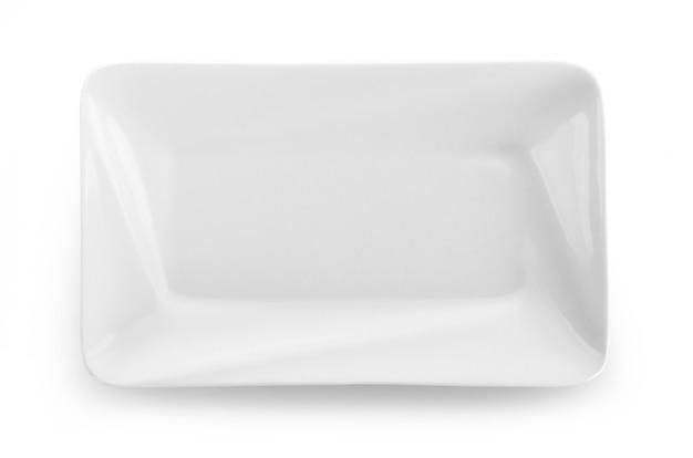 Пустая тарелка, изолированные на белой поверхности