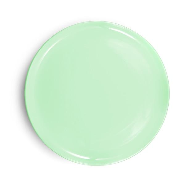 Пустая тарелка, изолированные на белом фоне