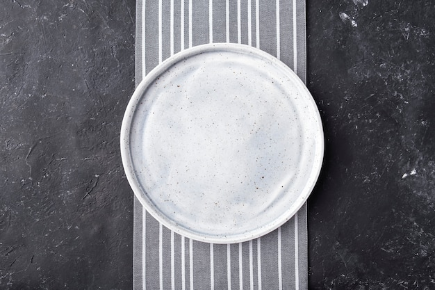 Empty plate   . top view