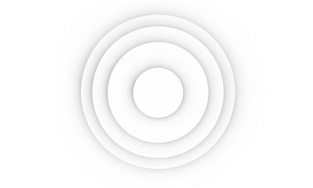 Пустой подиум на белом фоне. 3d рендеринг