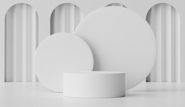 化粧品や製品を表示するための幾何学的形状を持つ空の表彰台のシーン。