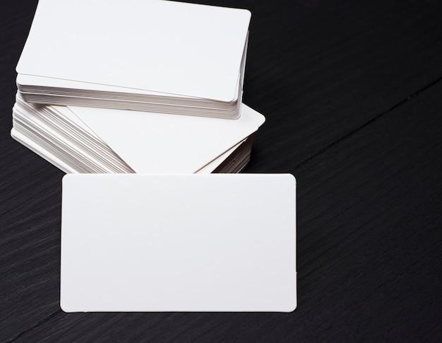 Empty rectangular paper business card