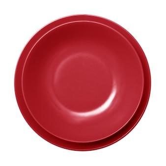 空の赤い皿