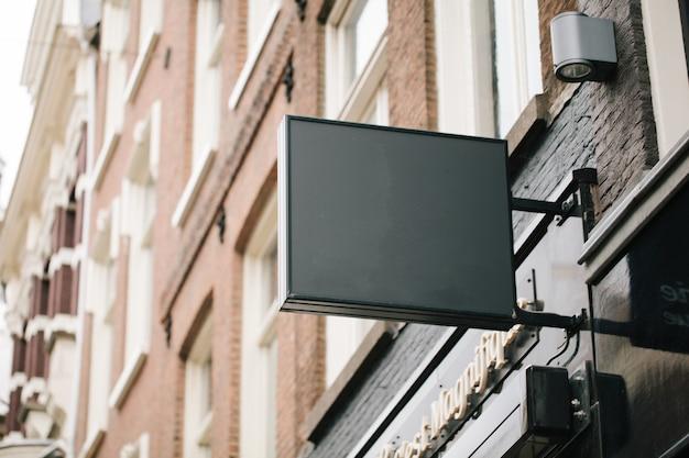 Empty restaurant billboard sign for your logo
