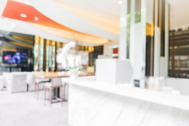 Blured効果を持つ空のレストラン