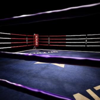빈 링 복싱 경기장