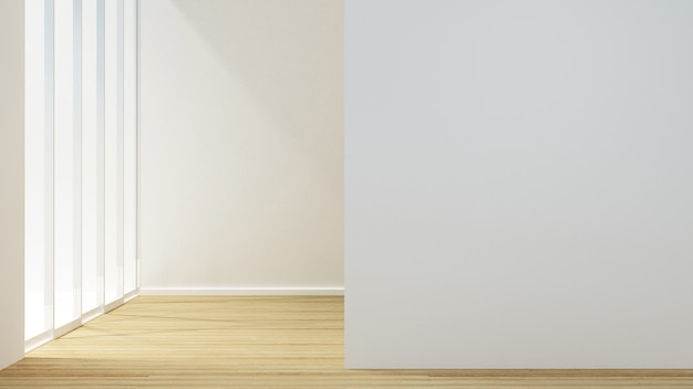 Empty room design for artwork
