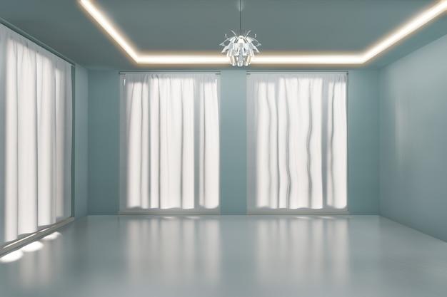 Перевод пустой комнаты внутренний 3d.