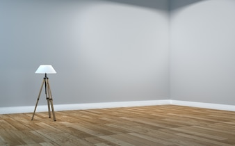 Empty room interior - Scandinavian interior. 3d rendering