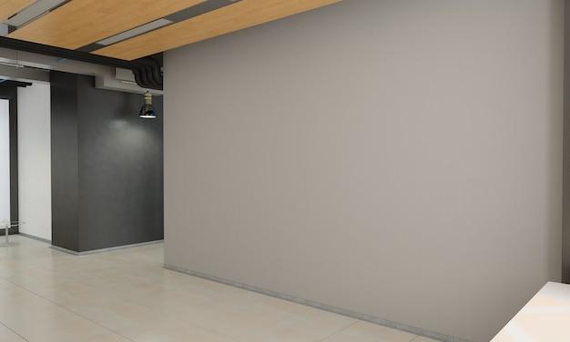 Визуализация интерьера пустой комнаты 3d иллюстрация