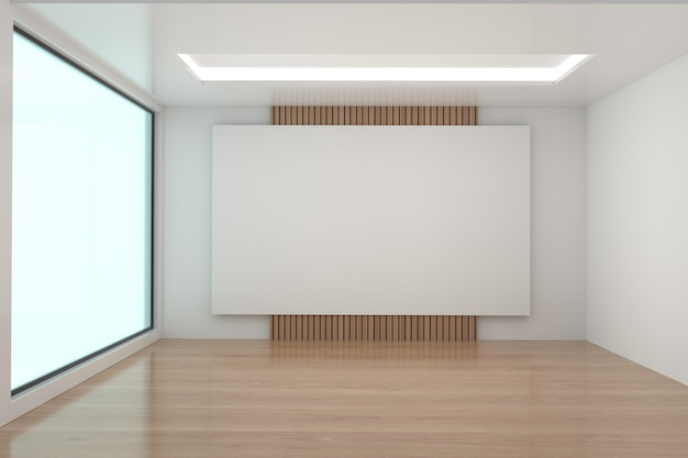 Empty room mock up in 3d rendering