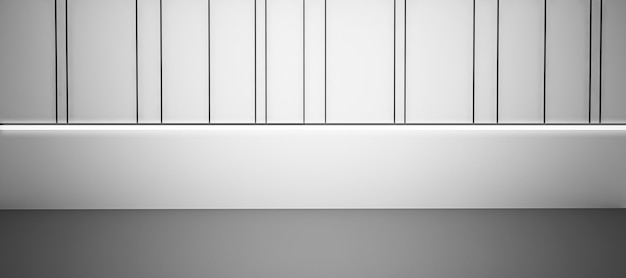 Empty room with white background, 3d mockup background with copy space.