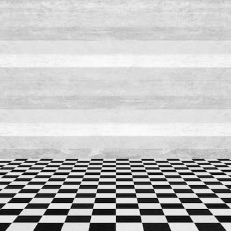 Пустые стены комнаты дерева и квадратом пол