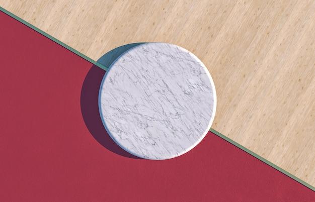 Пустой круглый мрамор для демонстрации продукта