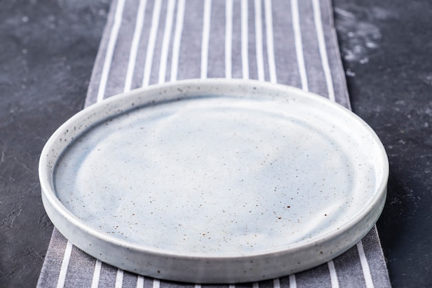 Empty round plate   .
