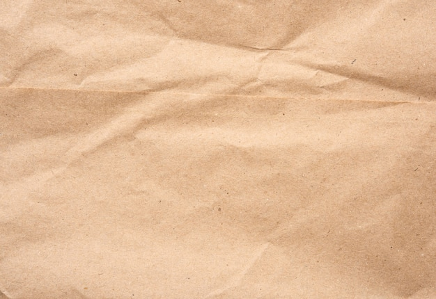 Empty sheet of brown wrapping kraft paper, vintage texture for the designer