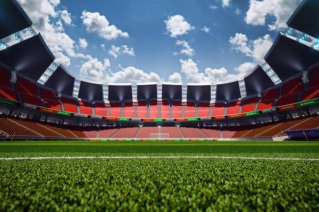 Пустой футбольный стадион