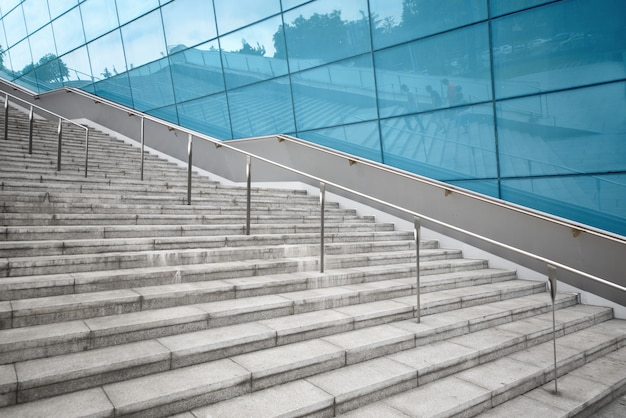 The empty steps are in the financial center, chengdu,china