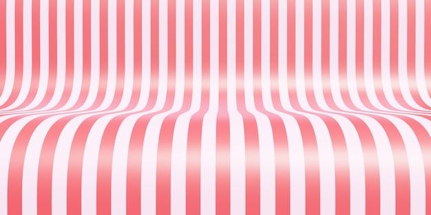 製品展示会のための空の縞模様のショールームの背景