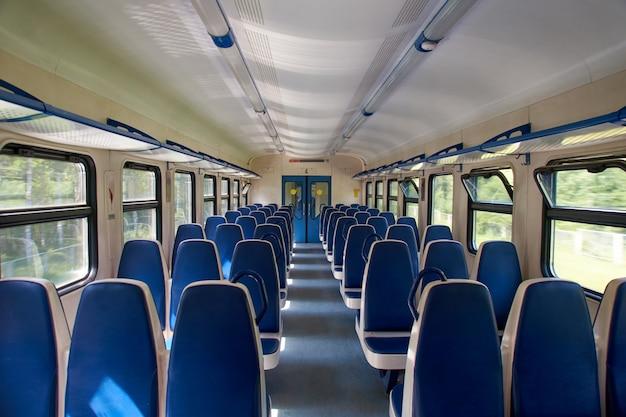 Empty suburban train
