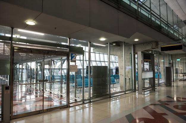 Empty suvarnabhumi airport