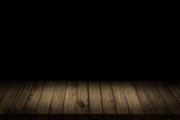 暗い影の中の空のテーブル。 3dイラストレーション。