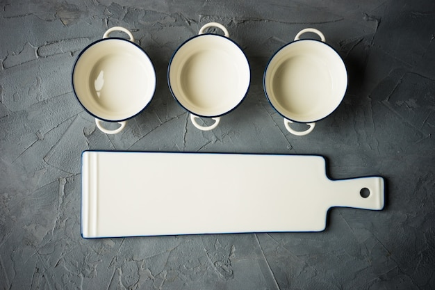Empty tableware on a table