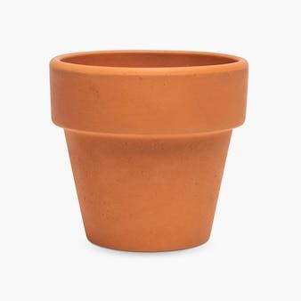 空のテラコッタ粘土植木鉢