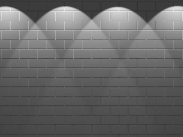 暗いレンガの壁とライトから空のテクスチャ背景