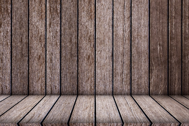 Empty top wood shelves for texture and background