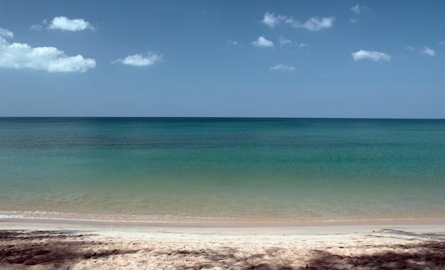 Empty tourism at phuket island beach