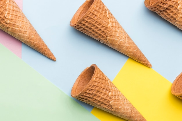 Empty wafer style crispy cones