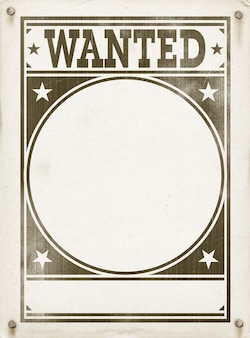 空の指名手配のポスター。古い羊皮紙のビンテージ デザイン