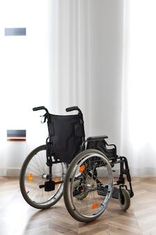 Empty wheelchair disability concept
