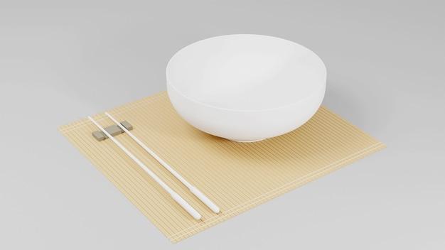 Пустая белая чаша в 3d визуализации