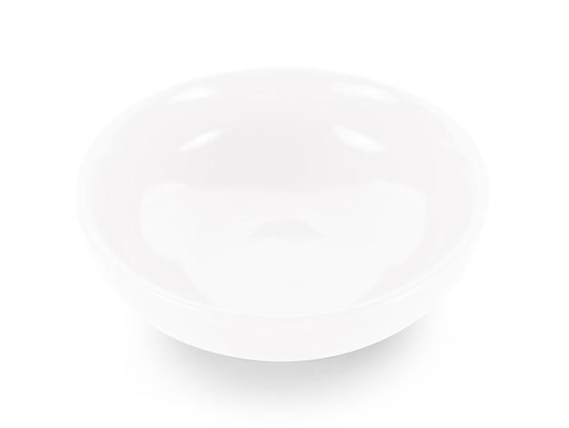 흰색 표면에 빈 흰색 그릇