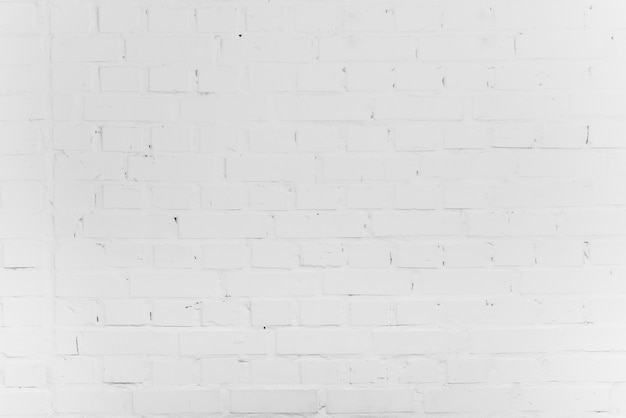 Empty white brick background