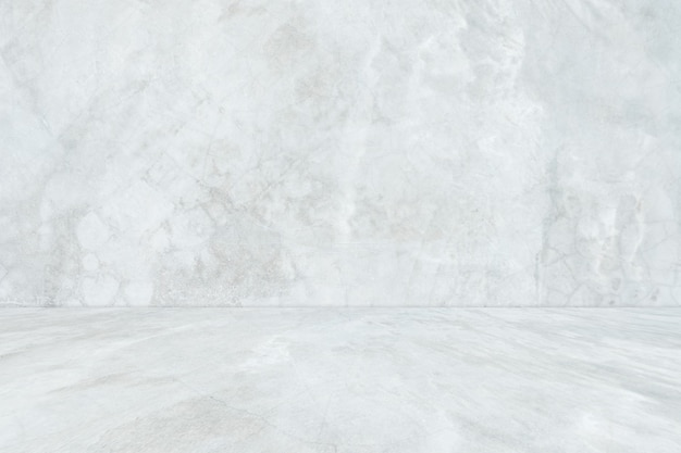 空の白いコンクリートの部屋と床の背景、インテリアの背景、背景の視点灰色のグラデーションコンクリートの部屋