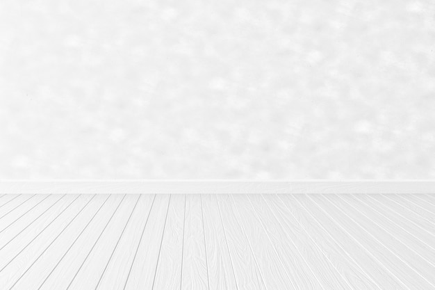 空の白いインテリアルームの背景