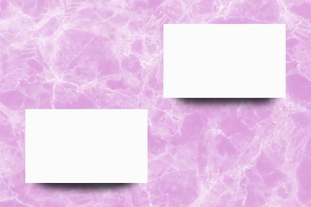 분홍색 대리석 백그라운드에 빈 백서 시트