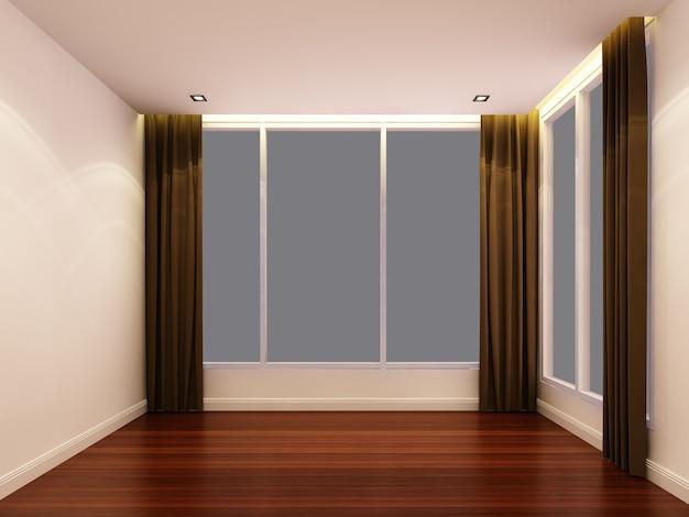 夜の空の白い部屋