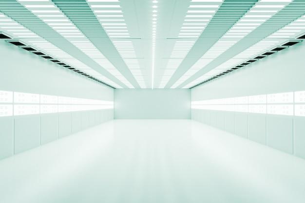 クリアな光、3dイラストレンダリングの空の白い部屋