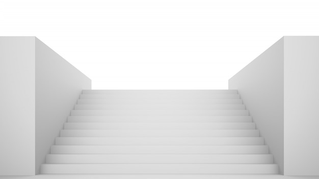 빈 흰색 계단