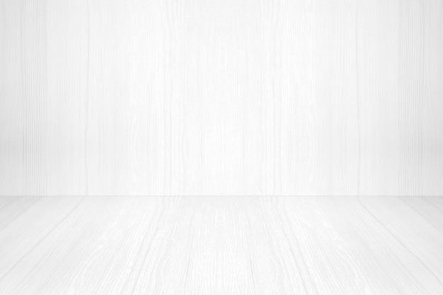 Empty white wood room