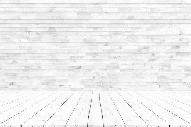 Empty white wooden table
