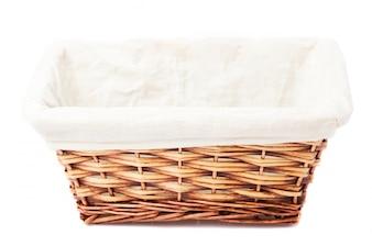 Empty wicker basket