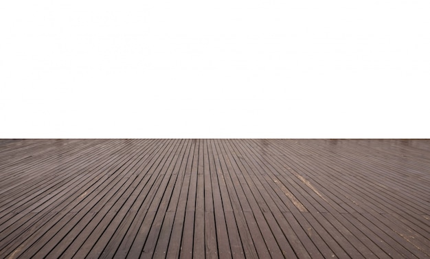 Empty wood flooring with ancient architecture on the lake side